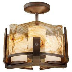 b5da58ad076 Feiss Aris 3-Light Roman Bronze Semi-Flush Mount Light