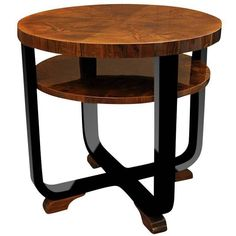 Exclusive Art Deco Side Table Walnut Wood | From a unique collection of antique and modern side tables at https://www.1stdibs.com/furniture/tables/side-tables/