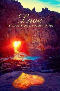 <3 Love can move mountains...if they were even there in the 1st place ;)