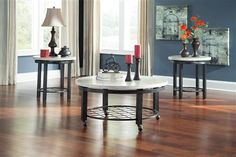 Shop Shanileigh Vintage Casual White Occasional Table Set with great price, The Classy Home Furniture has the best selection of to choose from 3 Piece Coffee Table Set, Coffee And End Tables, Modern Coffee Tables, Occasional Tables, New Living Room, Living Room Sets, Living Spaces, Affordable Furniture, Cool Furniture