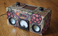 Cardboard raspberry pi wifi internet radio