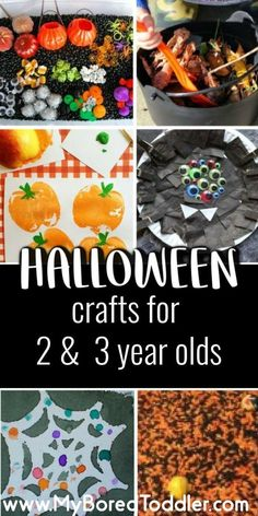 Halloween Crafts for Toddlers Halloween crafts for toddlers. Activities and crafts for 2 and 3 year olds : Halloween Crafts for Toddlers Halloween crafts for toddlers. Activities and crafts for 2 and 3 year olds Halloween Activities For Toddlers, Halloween Crafts For Kids, Autumn Activities, Halloween Treats, Vintage Halloween, Holiday Crafts, Halloween Party, Toddler Halloween Activities, Crafts Toddlers