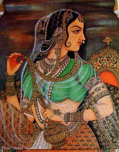 Indiase miniatuur schilderijen / Indian miniature paintings (serie of 6 fotos / series of 6 images) Mughal Miniature Paintings, Mughal Paintings, Indian Art Paintings, Rajasthani Painting, Rajasthani Art, Madhubani Art, Madhubani Painting, Empire Moghol, India Painting