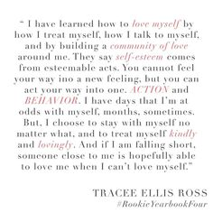 """Tracee Ellis Ross on Instagram: """"Another quote from my @RookieMag interview! Be sure to grab a copy at rookiemag.com! #blackish #SelfLove #action #behavior #kindness"""""""