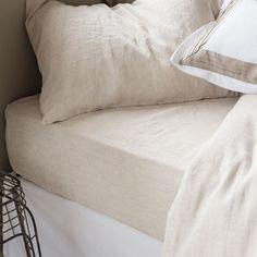 Natural-colour linen bottom sheet - Bed Linen - Bedroom   Zara Home Belgium