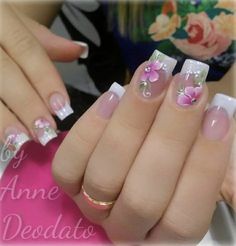 Photo shared by Clique Unhas on December 2018 tagging Image may contain: text that says 'annedeodato. Cute Nails, Pretty Nails, My Nails, French Manicure Nails, French Nails, Nail Nail, Bride Nails, Wedding Nails, French Nail Designs