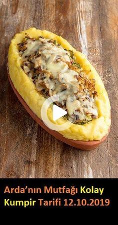Chef Arda Türkmen prepared delicious recipes for you in the new section of Arda's Cuisine, published on Kanal D on 12.10.2019. #yemek #pratikyemek Easy Baked Potato, Baked Potato Recipes, Baked Potatoes, Good Food, Yummy Food, Delicious Recipes, Homemade Beauty Products, Cheesesteak, Hot Dog Buns