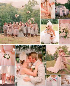blush and tan wedding colors