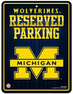 Michigan Wolverines Metal Parking Sign #BeatOhio #PinToWin
