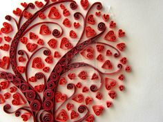 red-hearted tree quilling, give the kids the tree have them put the hearts on as the branches, new Valentine project teachers......