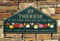 St Therese Church Sign | Danthonia Designs