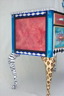 painted furniture ideas | animal print, painted furniture legs