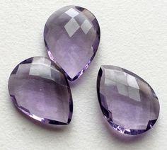Hydro Quartz Purple Faceted Pear Hydro Quartz by gemsforjewels