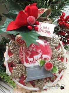 christmas deer tag-WOODLAND SNOW by cherrysjubileecards on Etsy