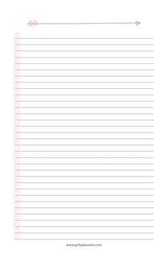 Free Printable: Blank To Do List with Hearts – Girly Planners To Do Lists Printable, Printable Planner, Free Printables, Sticker Organization, Binder Organization, List Template, Templates, Notebooks, Journals