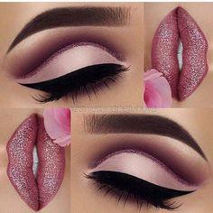 Pink eyeshadow and lip products #pinkeyeshadows #eyeshadows