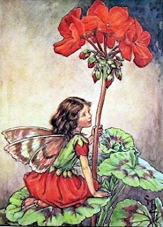 Remember when faeries looked like this? Cicely Mary Barker Geranium Fairy