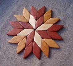 Wooden trivet. Hot mat. Pot holder. Stands for hot by WoodenOKshop