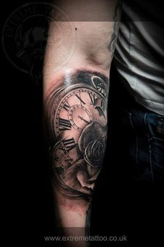 Clocks and rose,done at Extreme Tattoo&Piercing Inverness,Highland, Scotland by Catalin Gal. At our studio,you can get all kind of tattoos and piercings, like Realistic, Black and grey tattoo, Japanese tattoo, Traditional, Floral, Chinese tattoo, Fine line art tattoo, Old school tattoo, Tribal Tattoo, Maori tattoo, Religious tattoo, Pin-up tattoo, Celtic tattoo, New school tattoo, Oriental tattoo, Biomechanical tattoo and lots of other designs .For bookings, email…