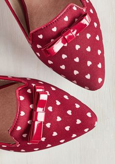 Crushin' Around Loafer in Crimson. Hurry your feet into these fabric flats so you, too, can experience the pure adoration they incite! #red #modcloth