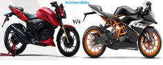 #Compare #TVS #Apache #RTR200 Vs #KTM #RC200 at: http://www.comparebabu.com/compare-tvs-apache-rtr-200-vs-ktm-rc-200/