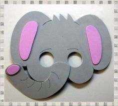 Masks in elephant foami - Imagui - Top Win Space Animal Activities, Preschool Activities, Printable Animal Masks, Diy Eyeshadow, Elephant Costumes, Diy And Crafts, Paper Crafts, Make Up Organiser, Animal Crafts For Kids