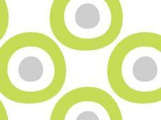 hip behang met grote groene cirkels | Tis Lifestyle
