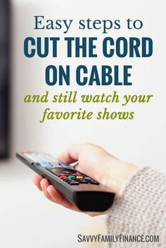 Want to get rid of cable? Save money with alternatives and still watch your favorite shows.cut the cord on cable Ways To Save Money, Money Tips, Money Saving Tips, How To Make Money, Money Savers, Savings Planner, Budget Planner, Tv Without Cable, Cable Tv Alternatives