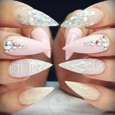 Loveeee thisNail Inspiration #nails #summer #pink