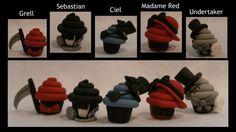 Black Butler Cupcake Cast by ~fluffytigerpaw on deviantART    ~{BLACK BUTLER CUPCAKES! = BEST. CREATION. EVER!}~