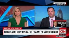 The Kansas state official who was name-checked by President Trump's senior policy adviser as having proof of voter fraud in New Hampshire sparred with CNN host Kate Bolduan on Monday during a segment in which she demanded to see the evidence.  Kris Kobach, the Kansas secretary of state, was cited by