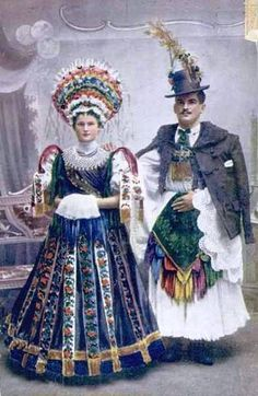 traditional old Hungarian wedding attire
