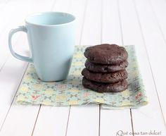 Cookies de chocolate negro y arándanos...de amores y otras adicciones...