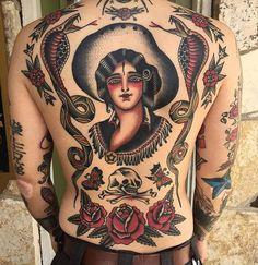OLDLINES — Healed back by @ivanantonyshevtattoo  #tattoo...                                                                                                                                                     More