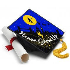 """Info Peter Pan is still one of your favorite movies and this phrase could not ring truer. """"Never Grow Up"""" Ahh the powers of imagination. If only this could be true. About A Tassel Topper is the ultima"""