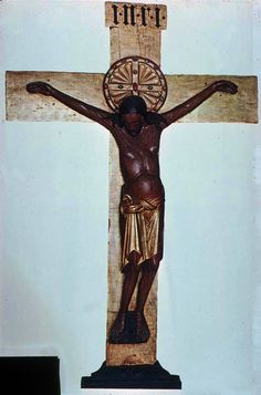 Didn't believe this could get any darker version of the Gero Cross. 965–970, is the oldest large sculpture of the crucified Christ nor...