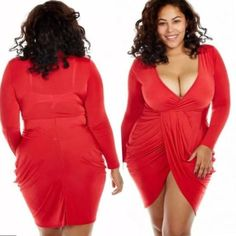 f70060d91ad Plus Size Clubwear Beautiful Plus Size Club Dress this Red Evening Party  Dress is the Perfect Dress for that Formal Evening for any full figured  woman.