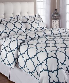 Midnight Quatrefoil Duvet Cover --- being delivered today!!!! Yay!!