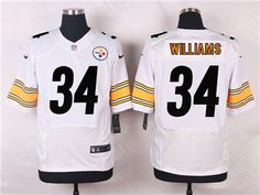 Men's Pittsburgh Steelers #34 DeAngelo Williams White Road NFL ...