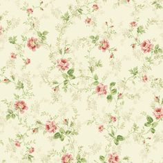 Brewster Home Fashions Willow Cottage Floral Trail Wallpaper in Pink Doll House Wallpaper, Print Wallpaper, Pattern Wallpaper, Art Vintage, Vintage Paper, Vintage Images, Flower Backgrounds, Wallpaper Backgrounds, Iphone Wallpaper