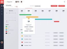 Calendar View of Project Management