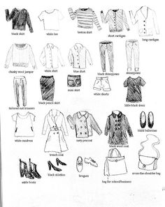 capsule wardrobe by sleep in the fog, via Flickr