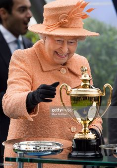 Queen Elizabeth II attends Qipco British Champions Day at Ascot Racecourse on October 17, 2015 in Ascot, England.