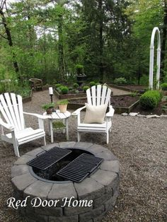 Good Ideas For You | Patio Furniture. Like the idea of gravel. We don't grow grass anyway