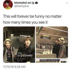 Bts Memes, Funny Kpop Memes, Bts Jin, Bts Bangtan Boy, Seokjin, Hoseok, Les Bts, Bts Tweet, I Love Bts