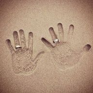 Show Off Your Rings On Sand Hands Cool Wedding Photo But Also Really For An Engagement AnnouncementCool Pictures Creative