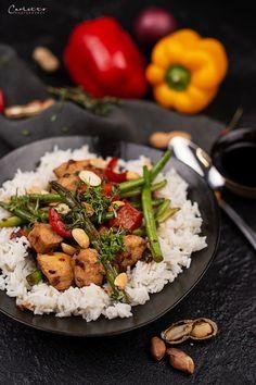 Chop Suey mit Huhn und Reis, Chop Suey selber machen, Chop Suey Rezept, Chop Suey Huhn Chop Suey, Buddha Bowl, International Recipes, Creative Food, Risotto, Recipies, Curry, Rice, Asian