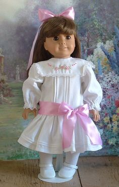 Victorianna, pintucked bodice with hand embroidered collar. $75.00, MyGirlClothingCoHeir via Etsy.