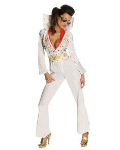 Halloween Ideas - Sexy Womens  Elvis Presley Costume