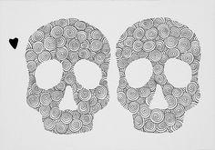 """andrea mattiello """"cuore"""" pennarello e collage su cartoncino cm 35x25; 2013 #art #arte #contemporanea #disegno #drawing #collage #paper #artista #emergente"""